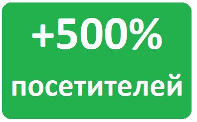 увеличение трафика на сайт